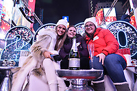 NEW YORK CITY - DECEMBER 31: Co-host Maria Menounos (L) and Elite Seat winners appear on FOX'S NEW YEAR'S EVE WITH STEVE HARVEY: LIVE FROM TIMES SQUARE on December 31, 2019 in New York City. (Photo by Anthony Behar/Fox/PictureGroup)