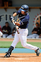 27 April 2008: Florida International second baseman Ryan Mollica (7) bats in the FIU 17-10 victory over Louisiana at Monroe at University Park Stadium in Miami, Florida.
