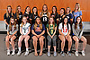 The Newsday All-Long Island girls lacrosse team gathers for a group picture at company headquarters on Wednesday, June 14, 2017. Appearing are, FRONT ROW, FROM LEFT: Jenn Medjid of Garden City, Molly Carter of Lynbrook, Kate Kotowski of Cold Spring Harbor, Kerry McKeever of Ward Melville, Shannon Kavanagh of Smithtown East and Rachel Rosen of Port Washington. BACK ROW, FROM LEFT: Coach Lindsay Dolson of Middle Country, Megan Gordon of Wantagh, Hannah Van Middelem of Mount Sinai, Sarah Reznick of Long Beach, Eve Calabria of Sachem North, Emily Vengilio of Mount Sinai, Sabrina Cristodero of St. Anthony's, Kelsey Huff of Eastport-South Manor and Coach Kaitlyn Carter of Port Washington. NOT IN PICTURE: Jamie Ortega of Middle Country.