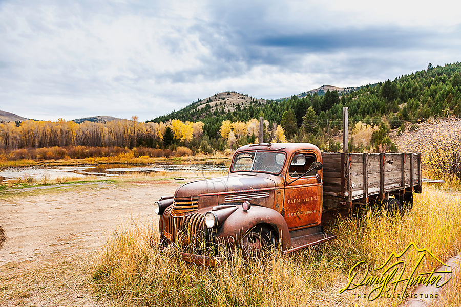Old farm truck, Virginia City Montana