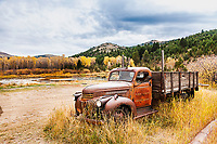 Old farm truck, Virginia City Montana