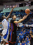 January 24, 2015 - Colorado Springs, Colorado, U.S. -   Boise State guard, Chandler Hutchison #15, drives for a layup during a Mountain West Conference match-up between the Boise State Broncos and the Air Force Academy Falcons at Clune Arena, U.S. Air Force Academy, Colorado Springs, Colorado.  Boise State defeats Air Force 77-68.