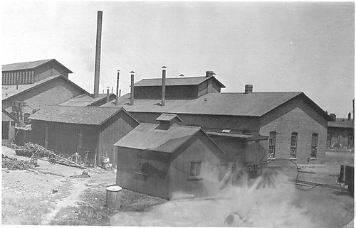 Early back view of D&amp;RG Alamosa repair shops.<br /> D&amp;RG  Alamosa, CO