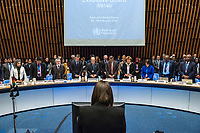 A minute silence to honour health professionals who have died, at the opening session of the Executive Board Meeting of the World Health Organisation, the UN's health body, at the organisation's headquarters in Geneva. The annual event is taking place in the shadow of the Corona virus outbreak, which the WHO has declared as global health emergency.