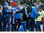 Stuart McCall and Robbie Neilson at full-time