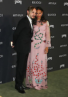 LOS ANGELES, CA - OCTOBER 29: Zoe Saldana, Marco Perego attends the 2016 LACMA Art + Film Gala honoring Robert Irwin and Kathryn Bigelow presented by Gucci at LACMA on October 29, 2016 in Los Angeles, California. (Credit: Parisa Afsahi/MediaPunch).