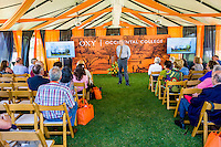 Occidental College President Jonathan Veitch discusses the current state and future of the College during a town hall meeting at Alumni Reunion, Sunday, June 14, 2015.<br /> (Photo by Don Milici, Freelance Photographer)