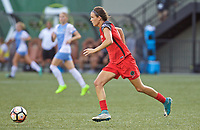 Portland, OR - Saturday August 19, 2017: Emily Menges during a regular season National Women's Soccer League (NWSL) match between the Portland Thorns FC and the Houston Dash at Providence Park.