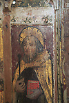Saint Anthony Abbot, medieval rood screen paintings, St Andrew church, Westhall, Suffolk, England, UK