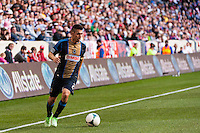 Michael Farfan (21) of the Philadelphia Union. The New York Red Bulls defeated the Philadelphia Union 2-1 during a Major League Soccer (MLS) match at Red Bull Arena in Harrison, NJ, on March 30, 2013.