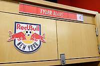 Harrison, NJ - Tuesday April 10, 2018: New York Red Bulls locker room, Tyler Adams prior to leg two of a  CONCACAF Champions League semi-final match between the New York Red Bulls and C. D. Guadalajara at Red Bull Arena. C. D. Guadalajara defeated the New York Red Bulls 0-0 (1-0 on aggregate).