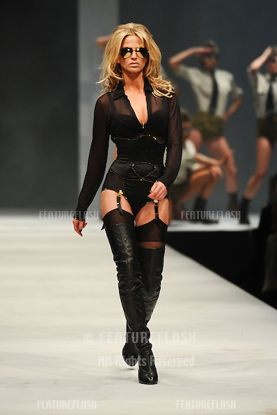 Sarah Harding on the Agent Provocateur catwalk at the Lingerie London show at Old Bilinsgate Market, London 24/10/2012 Picture by: Steve Vas / Featureflash