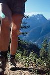 Hiking, Stehiken, Lake Chelan, the Cascade Mountains, Washington State.Pacific Northwest, USA, woman hiking,.