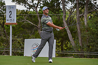 Jon Rahm (ESP) watches his tee shot on 2 during day 3 of the WGC Dell Match Play, at the Austin Country Club, Austin, Texas, USA. 3/29/2019.<br /> Picture: Golffile | Ken Murray<br /> <br /> <br /> All photo usage must carry mandatory copyright credit (© Golffile | Ken Murray)