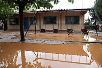 Pictured: The flooded yard of the local nursery.<br /> Re: People have died, some still missing and severe damage caused by heavy rain and flash flooding in the area of Mandra, near Athens, Greece. Thursday 16 November 2017