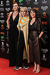 Actresses Mona Martinez, Natalia de Molina and Pilar Gomez attend the Candidates to Goya Cinema Awards party at Florida Retiro on December 16, 2019 in Madrid, Spain.(ALTERPHOTOS/ItahisaHernandez)