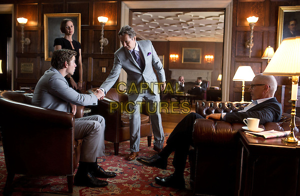 Liam Hemsworth, Embeth Davidtz, Gary Oldman &amp; Harrison Ford<br /> in Paranoia (2013) <br /> *Filmstill - Editorial Use Only*<br /> CAP/FB<br /> Image supplied by Capital Pictures