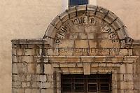 Detail of portal, Eglise Notre Dame des Anges, Collioure, France. Picture by Manuel Cohen.
