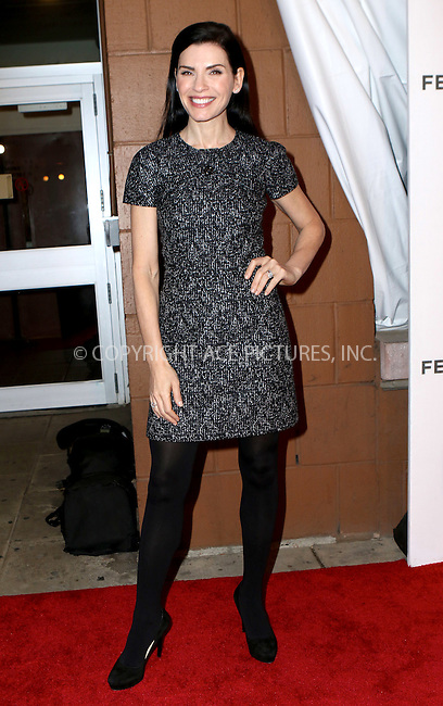 WWW.ACEPIXS.COM<br /> <br /> April 17 2016, New York City<br /> <br /> Julianna Margulies arriving at theTribeca Tune In: 'The Good Wife' during the 2016 Tribeca Film Festival at John Zuccotti Theater at BMCC Tribeca Performing Arts Center on April 17, 2016 in New York City.<br /> <br /> <br /> By Line: Nancy Rivera/ACE Pictures<br /> <br /> <br /> ACE Pictures, Inc.<br /> tel: 646 769 0430<br /> Email: info@acepixs.com<br /> www.acepixs.com