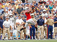 Ohio State Buckeyes wide receiver Evan Spencer (6) makes a catch against Navy Midshipmen in the 3rd quarter of their NCAA game at M&T Bank Stadium in Baltimore, Maryland on August 30, 2014. (Dispatch photo by Kyle Robertson)
