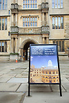 Signs at the Bodleian Library during the Sunday Times Oxford Literary Festival, UK, 16 - 24 March 2013.<br />