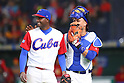 (L to R) <br /> Bladimir Banos, <br /> zfrank Morejon (CUB), <br /> MARCH 8, 2017 - WBC : <br /> 2017 World Baseball Classic <br /> First Round Pool B Game <br /> between China - Cuba <br /> at Tokyo Dome in Tokyo, Japan. <br /> (Photo by YUTAKA/AFLO SPORT)