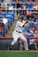 Trenton Thunder outfielder Danny Oh (11) at bat during a game against the Binghamton Mets on August 8, 2015 at NYSEG Stadium in Binghamton, New York.  Trenton defeated Binghamton 4-2.  (Mike Janes/Four Seam Images)