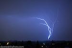 Lightning storm hits the 288m high Torre de Collserola Communications Tower, Collserola, Barcelona