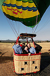 Allison and I in the Hot air balloon before taking off in Middletown, California on Saturday July 14th 2012. (Photo By Brian Garfinkel)