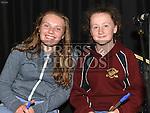 Ava Healy and Aisling Martin at the Ceilí in Teach Scoraiocht Dunleer. Photo:Colin Bell/pressphotos.ie