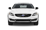 Car photography straight front view of a 2018 Volvo V60 T5-Cross-Country 5 Door Wagon Front View