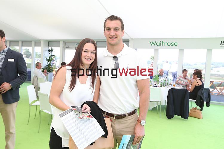 ISPS Handa Wales Open 2013<br /> Celtic Manor Resort<br /> Sam Warburton &amp; Rachel Thomas<br /> 01.09.13<br /> <br /> &copy;Steve Pope-Sportingwales