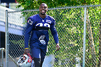 July 28, 2017: New England Patriots defensive end Devin McCourty (32) walks to the practice fields for the New England Patriots training camp held at Gillette Stadium, in Foxborough, Massachusetts. Eric Canha/CSM