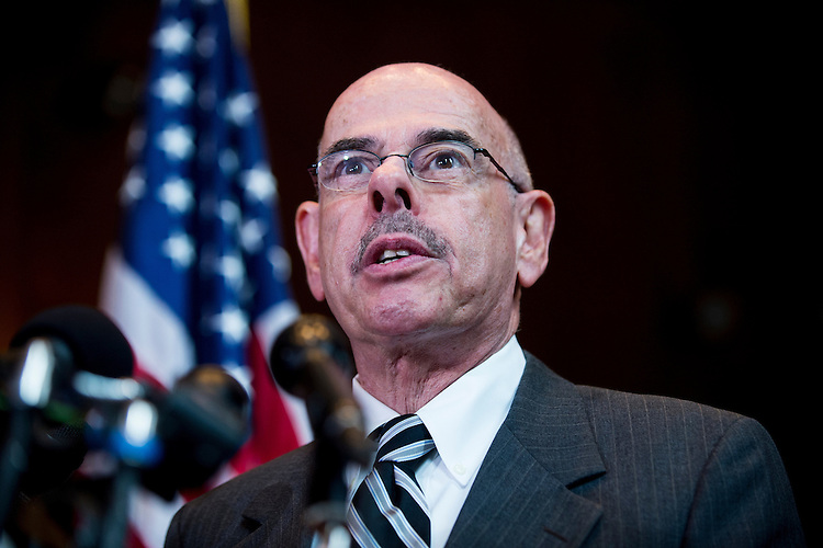 "UNITED STATES - DECEMBER 11: Rep. Henry Waxman, D-Calif., speaks during the news conference to call for the protection of Medicaid funding in the ""fiscal cliff"" negotiations on Tuesday, Dec. 11, 2012. (Photo By Bill Clark/CQ Roll Call)"