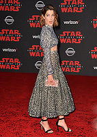 Cobie Smulders at the world premiere for &quot;Star Wars: The Last Jedi&quot; at the Shrine Auditorium. Los Angeles, USA 09 December  2017<br /> Picture: Paul Smith/Featureflash/SilverHub 0208 004 5359 sales@silverhubmedia.com
