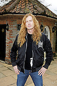 Megadeth - Dave Mustaine - photographed exclusively at Hook End Studios, Berkshire, UK - 30 Apr 2006. Photo credit: Photo credit: George Chin/IconicPix