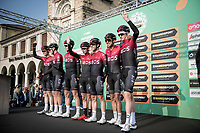 Team Ineos with Egan Bernal (COL/Ineos) at sign-on<br /> <br /> 113th Il Lombardia 2019 (1.UWT)<br /> 1 day race from Bergamo to Como (ITA/243km)<br /> <br /> ©kramon