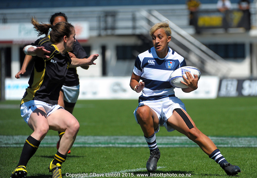 Kiritapu Demant in action during the Women's provincial Rugby Championship final between Wellington pride and Auckland Storm at McLean Park, Napier, New Zealand on Saturday, 17 October 2015. Photo: Dave Lintott / lintottphoto.co.nz