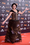 Montserrat Alcoverro attends to the Red Carpet of the Goya Awards 2017 at Madrid Marriott Auditorium Hotel in Madrid, Spain. February 04, 2017. (ALTERPHOTOS/BorjaB.Hojas)