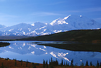 Mt. McKinley Reflection In Wonderlake, Denali,  Denali National Park, Alaska, USA