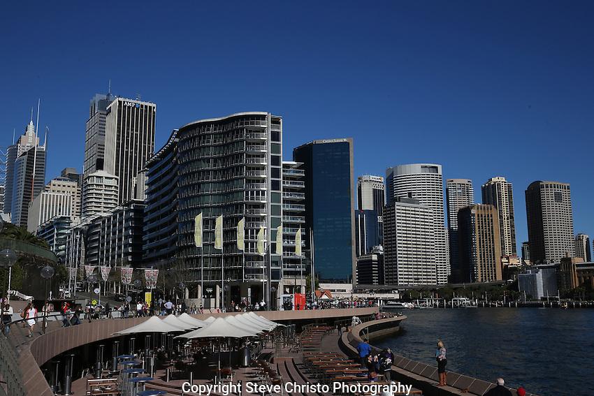 Sydney Harbour and Opera House in morning light. Sydney, Australia. Thursday 4th July 2013.Photo: (Steve Christo)