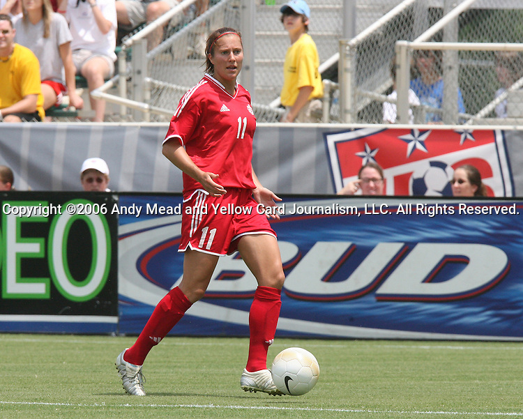 30 July 2006: Randee Hermus (CAN). The United States Women's National Team defeated Canada 2-0 at SAS Stadium in Cary, North Carolina in an international friendly soccer match.