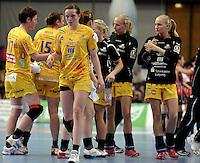 EHF Champions League Handball Damen / Frauen / Women - HC Leipzig HCL : SD Itxako Estella (spain) - Arena Leipzig - Gruppenphase Champions League - im Bild: Louise Lyksborg. Foto: Norman Rembarz .