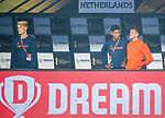 BHUBANESWAR (INDIA) -  Blessure bij Sander de Wijn (Ned)  tijdens Nederland-Canada (5-0) bij het WK Hockey heren.   links Joep de Mol en Terrance Pieters.  COPYRIGHT KOEN SUYK
