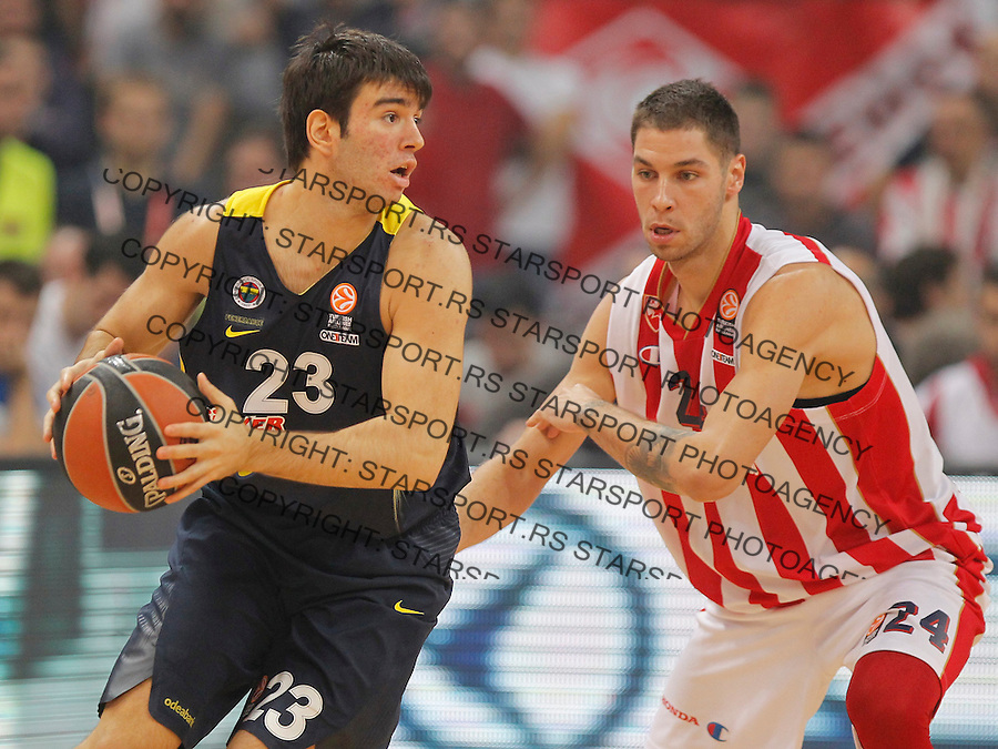 Kosarka Euroleague season 2015-2016<br /> Euroleague <br /> Crvena Zvezda v Fenebahce Istanbul<br /> Berk Ugurlu and Stefan Jovic<br /> Beograd, 06.11.2015.<br /> foto: Srdjan Stevanovic/Starsportphoto &copy;