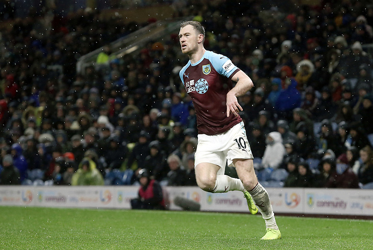 Burnley's Ashley Barnes<br /> <br /> Photographer Rich Linley/CameraSport<br /> <br /> The Premier League - Burnley v Brighton and Hove Albion - Saturday 8th December 2018 - Turf Moor - Burnley<br /> <br /> World Copyright © 2018 CameraSport. All rights reserved. 43 Linden Ave. Countesthorpe. Leicester. England. LE8 5PG - Tel: +44 (0) 116 277 4147 - admin@camerasport.com - www.camerasport.com