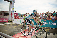 Zdenek Stybar (CZE) finishing a very strong 2nd<br /> <br /> Eneco Tour 2013<br /> stage 6: Riemst - Aywaille (La Redoute) <br /> 150km