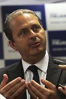 """RIO DE JANEIRO, RJ, 24.02.2014  - FIRJAN RECEBE GOVERNADOR EDUARDO CAMPOS - A Federação das Indústrias do Estado do Rio de Janeiro recebe nesta segunda-feira, 24 de fevereiro, à tarde, o governador de Pernambuco e candidato a presidente, Eduardo Campos, para um encontro com empresarios fluminenses. Este é o primeiro encontro da série """"Visões de Futuro"""", que debaterá propostas para o Brasil e para o Estado do Rio de Janeiro nessa segunda 24. (Foto: Levy Ribeiro / Brazil Photo Press)"""