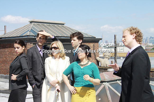 CAST - Lise Fisher, Josh Davis, Tina Sloan, Nick Lewis, Annalisa Derr and Chris J. Handley   - Empire The Series films on set June 3, 2012  in Brooklyn, New York. (Photo by Sue Coflin/Max Photos)