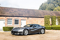 BNPS.co.uk (01202 558833)<br /> Pic: Bonhams/BNPS<br /> <br /> Pictured: 2016 Ferrari F12tdf Berlinetta<br /> <br /> Cosmic Cars...<br /> <br /> Three barely used supercars belonging to Jamiroquai singer Jay Kay have emerged for sale for nearly £2.5m.<br /> <br /> The 1973 Porsche 911, 2016 Ferrari F12 and 2004 Porsche Carrera GT are among around 100 vehicles owned by the acid jazz star.<br /> <br /> As such they have been scarcely used during their time with the musician and he has now decided to trim his collection.